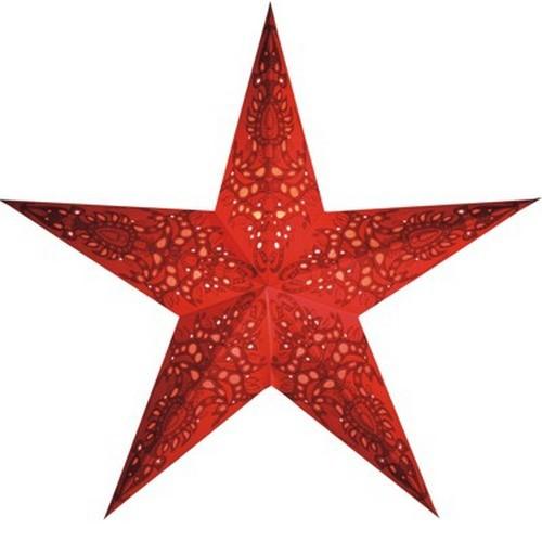 Starlightz Mono red Leuchtstern aus Papier rot Stern Lampe Weihnachtsstern