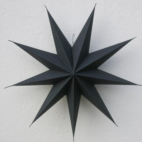 House Doctor Stern dunkelbraun 60 cm fast schwarz 9 zackig Papier Faltstern Weihnachten