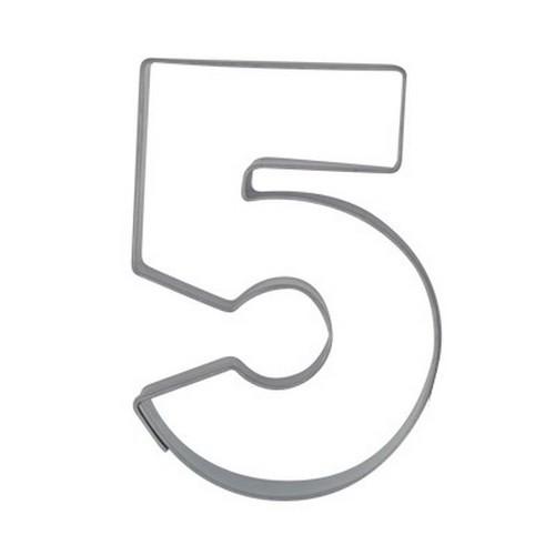 Ausstechform Zahl 5 Ausstecher Fünf Zahlen 6,5 cm Städter