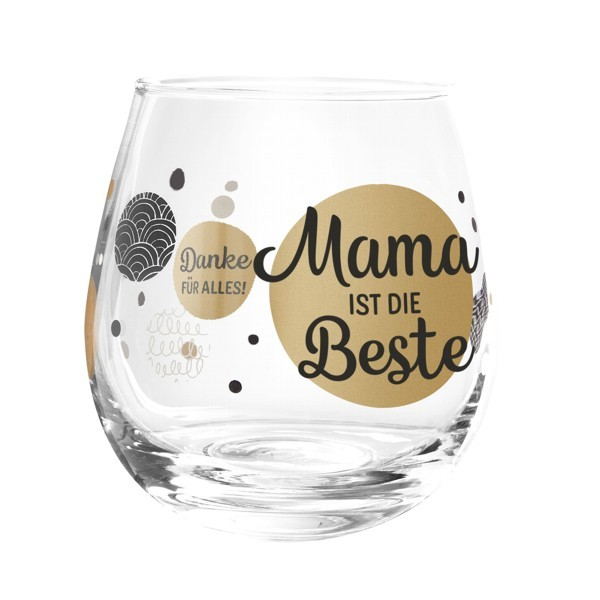 Formano Glas Spruch Mama ist die Beste Prosit Wein Wasser Cocktail