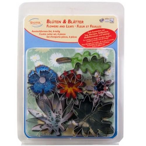 Ausstechform Blätter Ausstecher Blüten Set 6 Stück Blatt Blume Städter