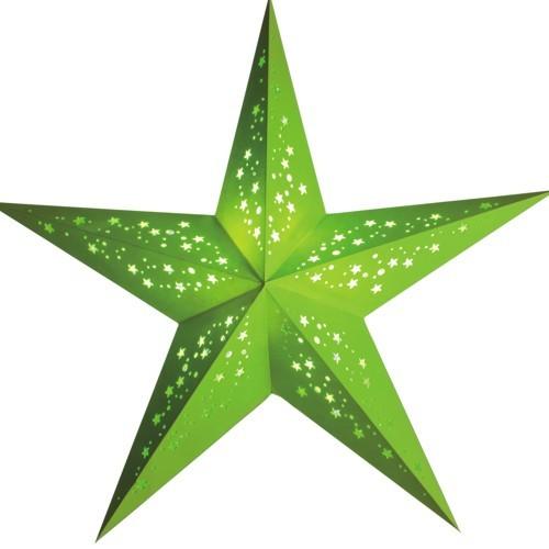 Starlightz Stern Mia grün Leuchtstern Papierstern Faltstern