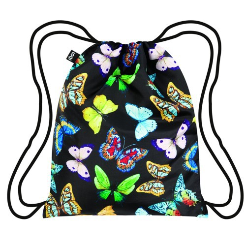 LOQI Backpack WILD Butterflies Rucksack Schmetterling Beutel Sport Hipster