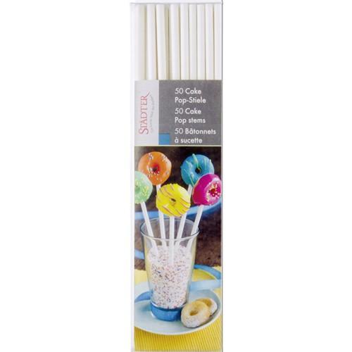 CakePop Stiele 50 Stück Lolli-Sticks Papierstiele 15 cm Städter