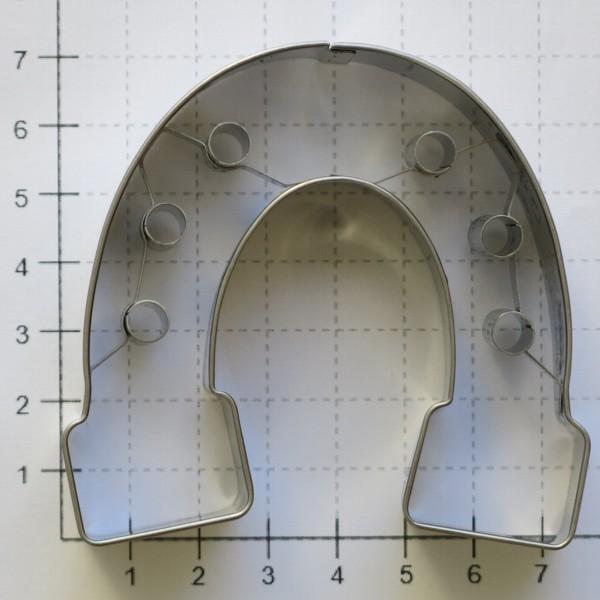 Ausstechform Hufeisen 7 cm Präge Ausstecher Edelstahl Birkmann