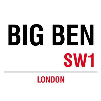 Metallschild Big Ben mittel Blechschild London Magnettafel