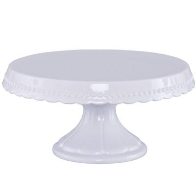 tortenplatte auf fu 30 cm vintage wei keramik kuchenplatte kuchenteller birkmann rbv. Black Bedroom Furniture Sets. Home Design Ideas