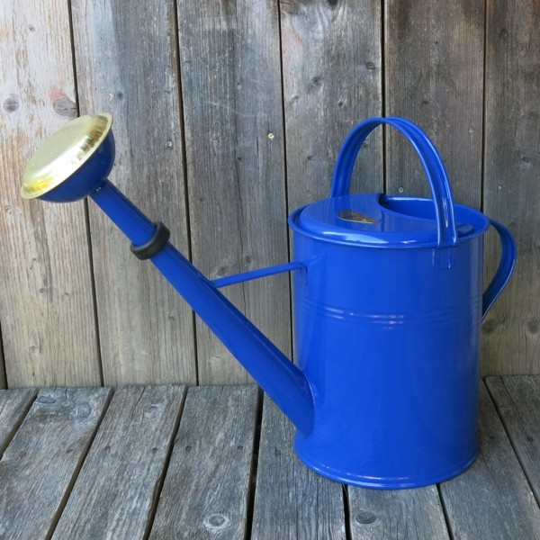 Gießkanne Zink blau 9 l Zinkgießkanne verzinkt Metall