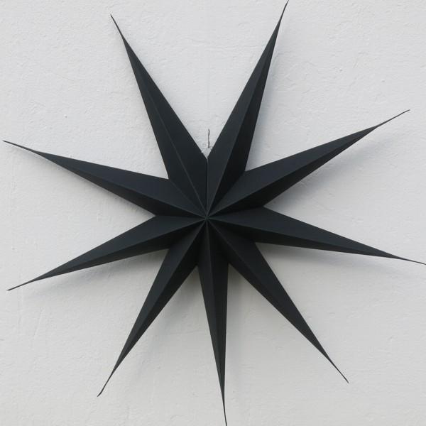 House Doctor Stern 87 cm dunkelbraun fast schwarz 9 zackig Papier Faltstern Weihnachten