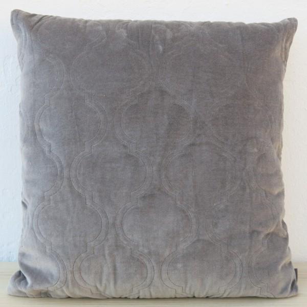 Kissen Moroccan Velvet grau 45 x 45 cm Samt mit Füllung