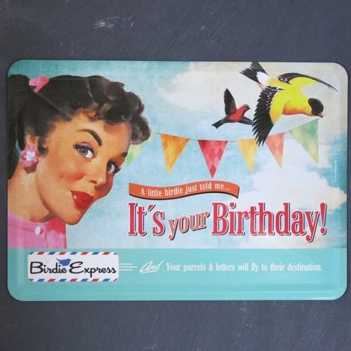 Nostalgic Art Blechpostkarte It`s your birthday Happy Postkarte Metall