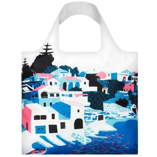 LOQI Tasche ARTISTS Bay Bag Einkaufstasche Falt-Shopper Haus am Meer