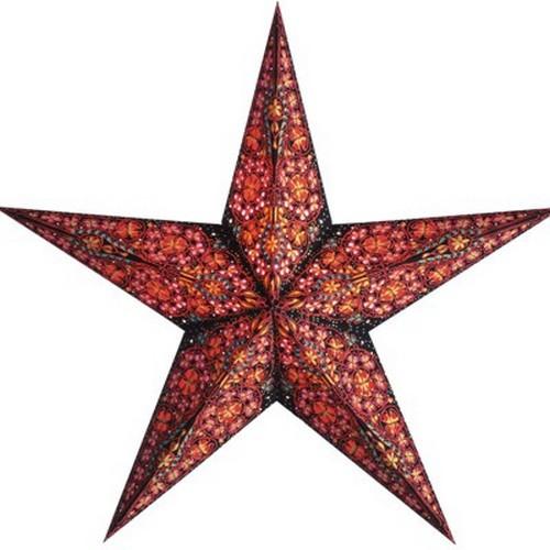 Starlightz Kalea rot bunt Leuchtstern Papier Stern Lampe Weihnachtsstern