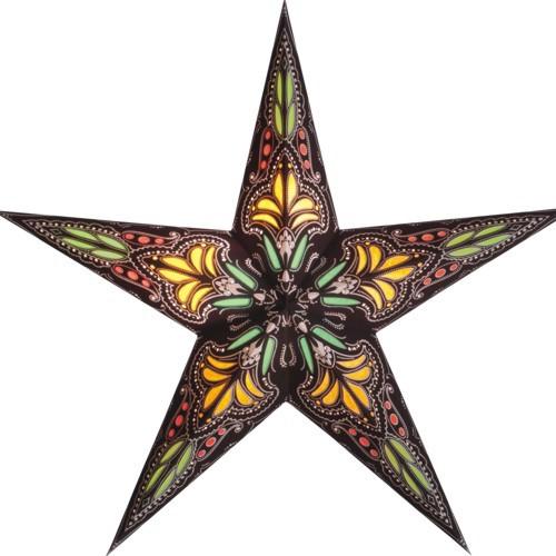 Starlightz Stern Jaipur klein braun gelb Leuchtstern Papier Faltstern