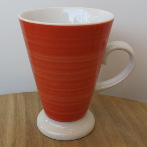 Tirschenreuth Becher konisch gewischt Porzellan Kakao Tee Kaffeebecher