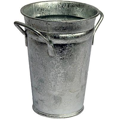 Vase verzinkt 37 cm Zink Zinkvase Metall Blumenvase