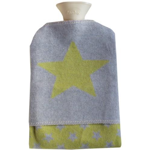 Fussenegger Wärmflasche Stern curry gelb mit Bezug