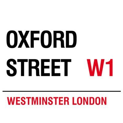 Metallschild Oxford Street mittel Blechschild London Magnettafel