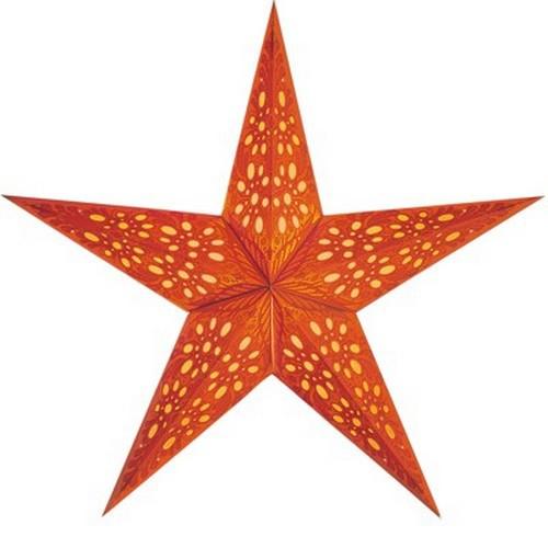 Starlightz Mono klein orange Leuchtstern Papier Stern Lampe Weihnachtsstern