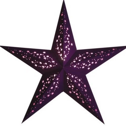 Starlightz Mia violett lila Leuchtstern Papier Stern Lampe Weihnachtsstern