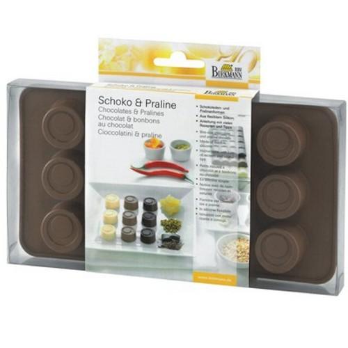 Schokoladenform Pralinenform Praline Konfekt Toffee rund Form Silikon Birkmann