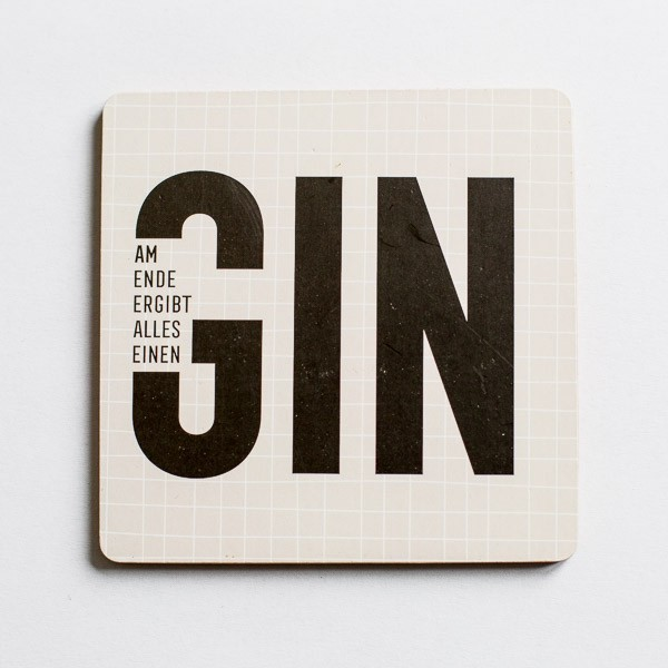 Korkuntersetzer Am Ende ergibt alles einen Gin