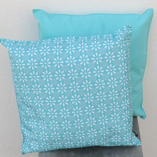 outdoor kissen t rkis 47 cm daisy flower garten f r. Black Bedroom Furniture Sets. Home Design Ideas