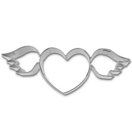 Ausstechform Herz mit Flügel 9 cm Ausstecher Städter