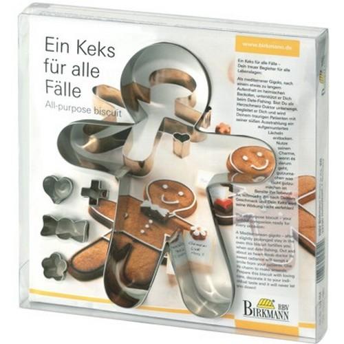 Ausstechform Lebkuchenmann 19 cm Ausstecher Set Gingerman Birkmann