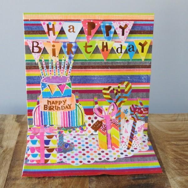 Pop up Karte Geburtstag Kuchen Torte Party 3 D