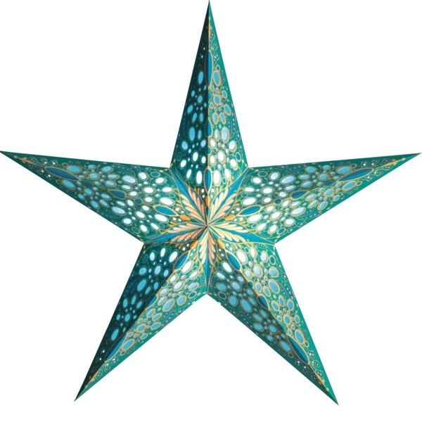 Starlightz Stern Festival türkis 45 cm Leuchtstern Papier Faltstern Weihnachtsstern