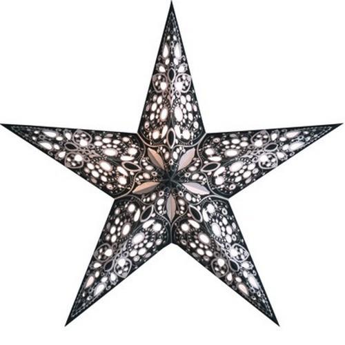 Starlightz Rani schwarz weiss Leuchtstern Papier Stern Lampe Weihnachtsstern