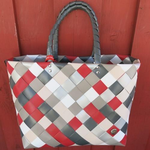 ICE BAG 5017 87 Taschw Witzgall Diagonal Einkaufskorb rot grau weiß
