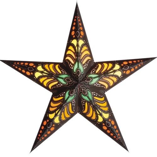 Starlightz Stern Ramadasa braun schwarz Papierstern Leuchtstern