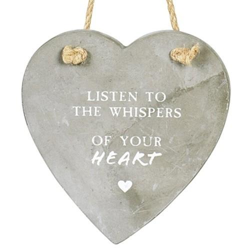 Herz Beton 12 x 15 cm Rückseite zum Beschriften