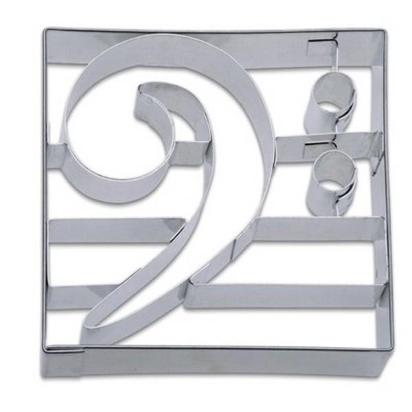 Ausstechform Bassschlüssel 9 cm Ausstecher Musik Städter