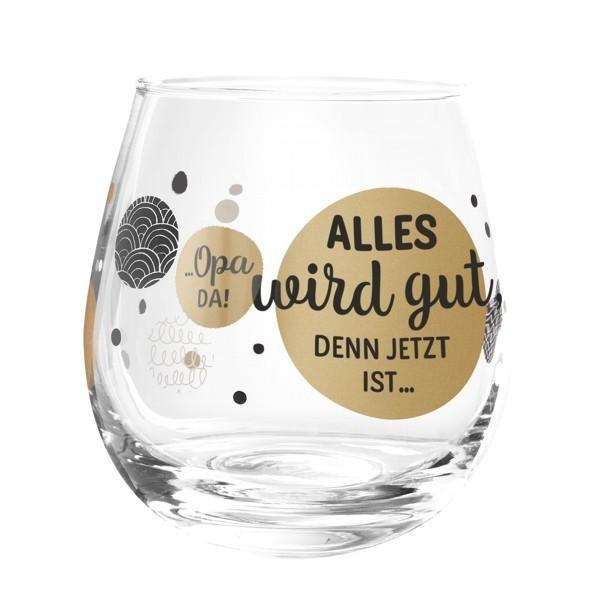 Formano Glas Spruch Alles wird gut denn jetzt ist Opa da Wein