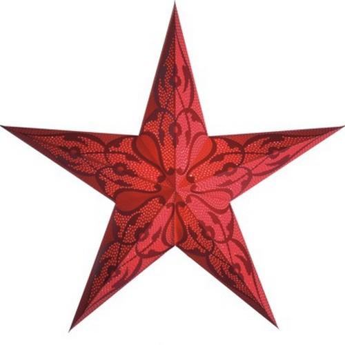 Starlightz Damaskus rot Leuchtstern Papier Stern Lampe