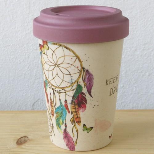 bamboo cup coffee to go becher bambus dreamcatcher kaffeebecher bamboo cup marken newstalgie. Black Bedroom Furniture Sets. Home Design Ideas