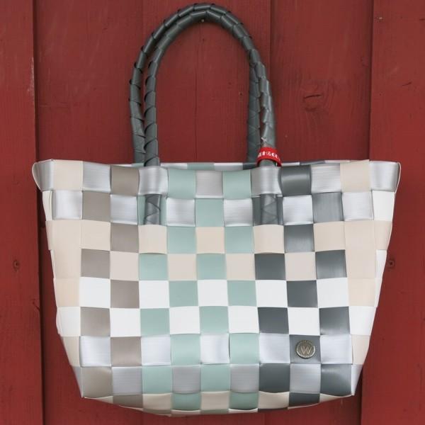 ICE BAG 5010 26 Witzgall Shopper Einkaufskorb grau grün weiß