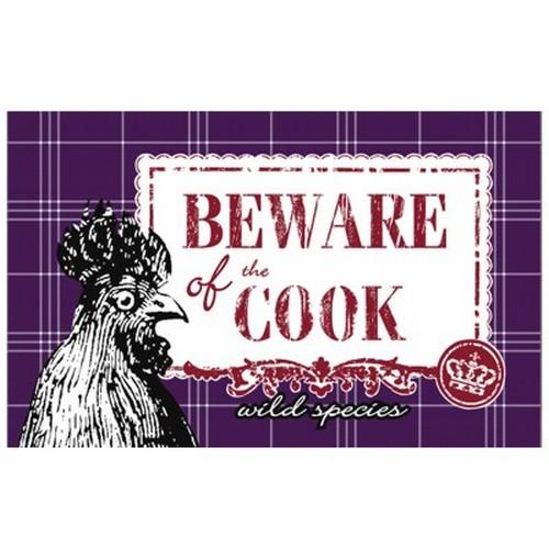 Frühstücksbrettchen Beware of the cook Le coq rouge Spiegelburg