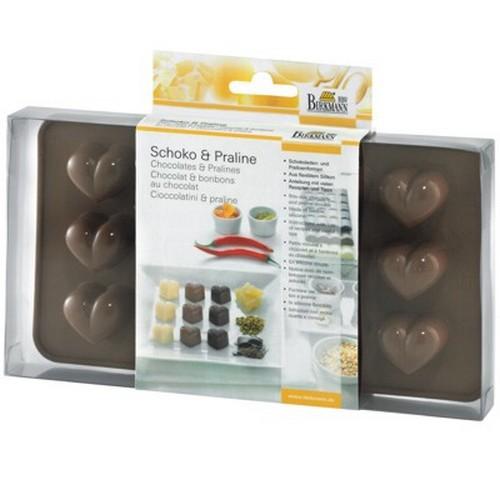Schokoladenform Pralinenform Praline Herz Form Silikon Birkmann
