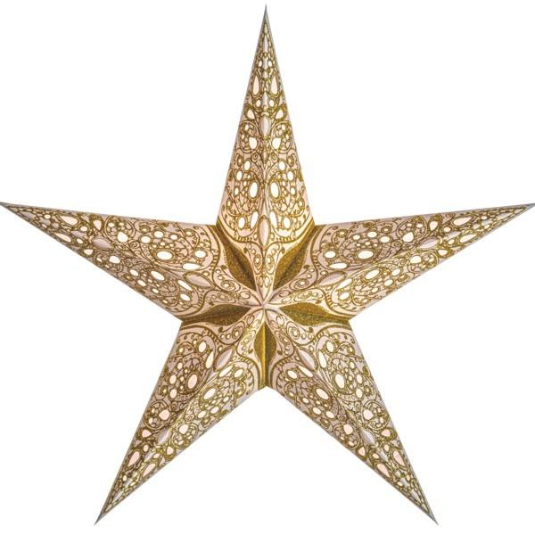 Starlightz Stern Raja gold 45 cm Papierstern Leuchtstern weiß