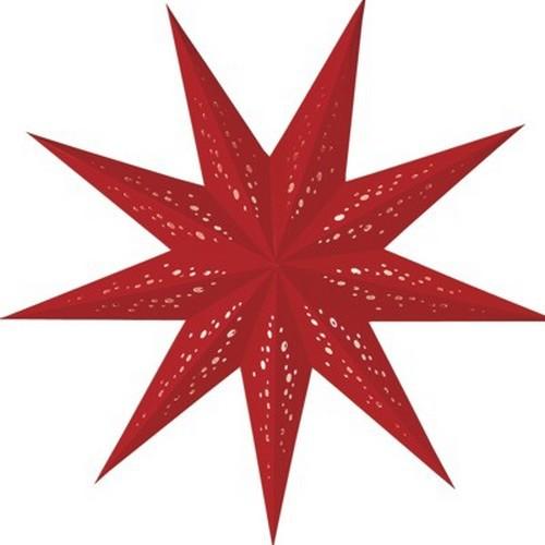 Starlightz Rosso klein rot Leuchtstern Papier Stern Lampe Weihnachtsstern