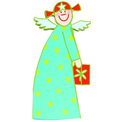 Himmlische Schwestern Sternchen Kuvert Karte Engel Klappkarte Weihnacht Angel
