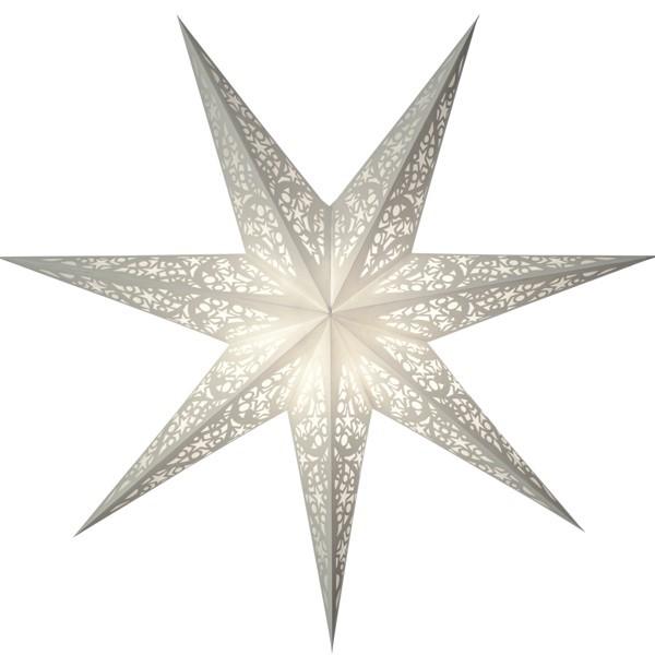 Starlightz Stern Lux weiß 60 cm Leuchtstern Papier Faltstern Weihnachtsstern