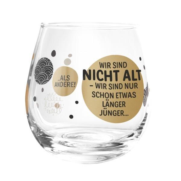 Formano Glas Spruch Wir sind nicht alt nur schon etwas länger jung Weinglas