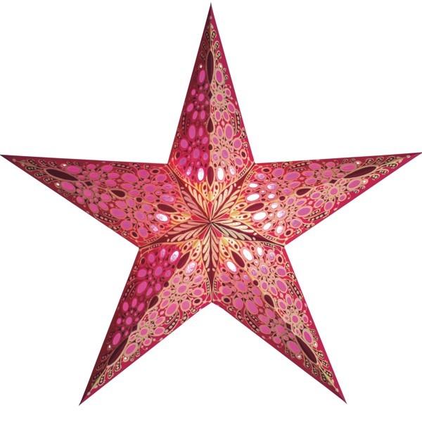 Starlightz Stern Festival pink 60 cm Leuchtstern Faltstern Papier Weihnachten