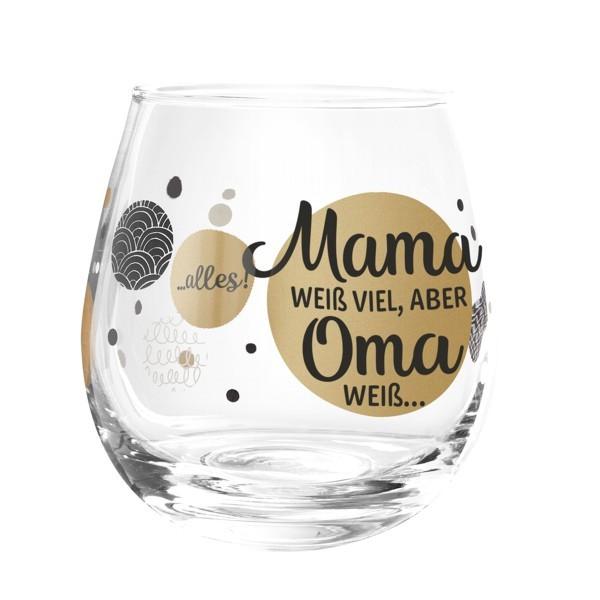 Formano Glas Spruch Mama weiß viel aber Oma weiß alles Prosit Wein Cocktail