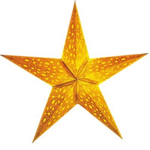 Starlightz Mono klein gelb Leuchtstern Papier Stern Lampe Weihnachtsstern